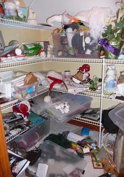 Storage closet before organization