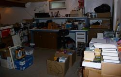 unorganized basement