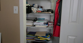 Home Office Closet Makeover