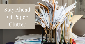 Stay Ahead Of Paper Clutter