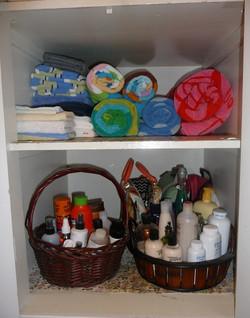 organized cupboard