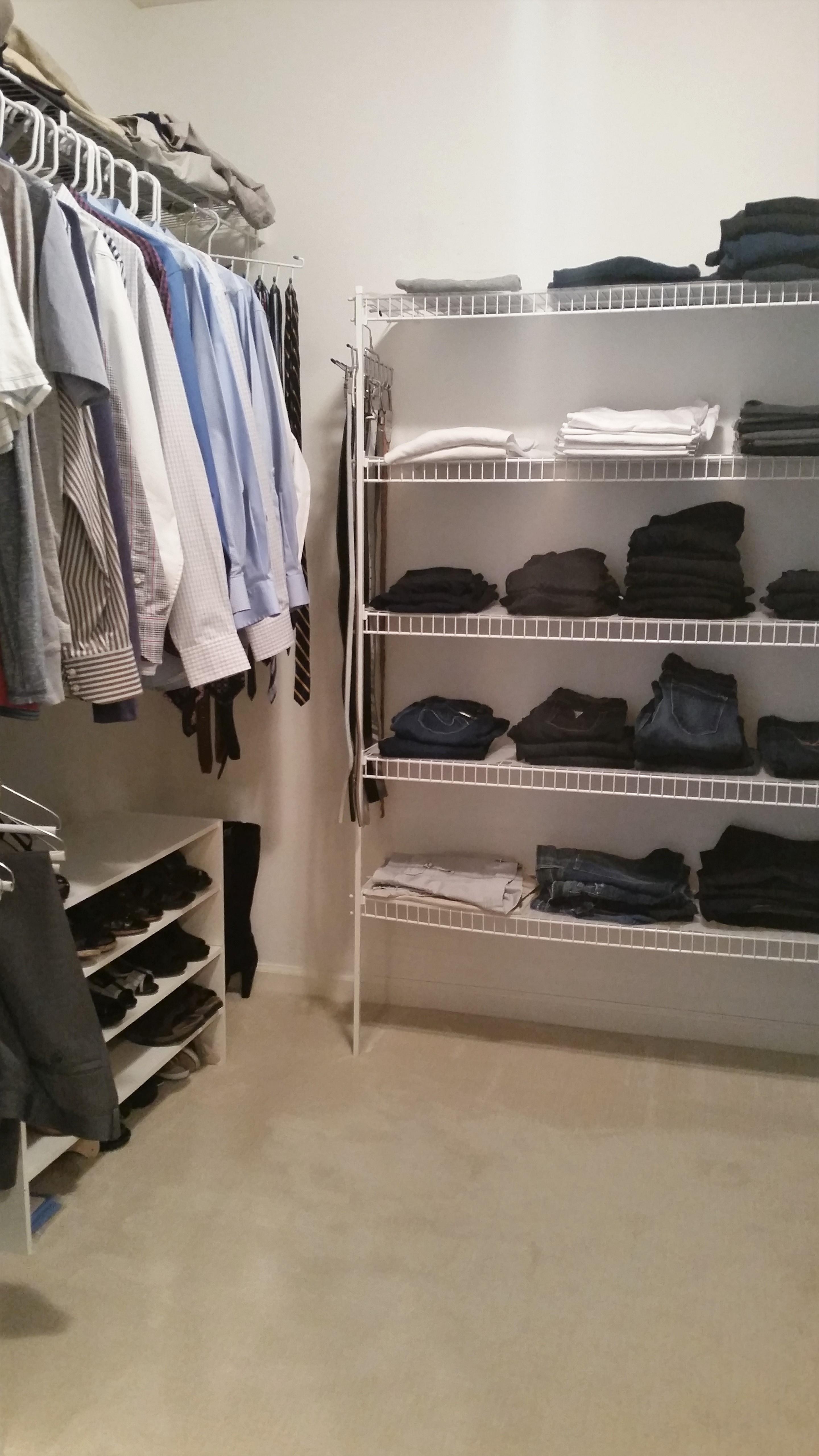 Closet before J