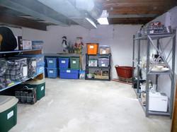 Decluttered basement