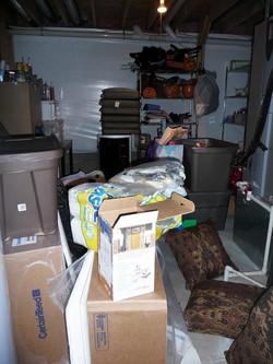 Basement before organizing