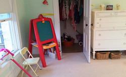 decluttered playroom