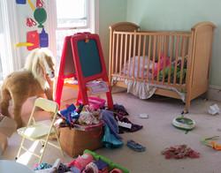 unorganized playroom