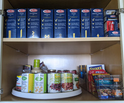 Pantry shelf after