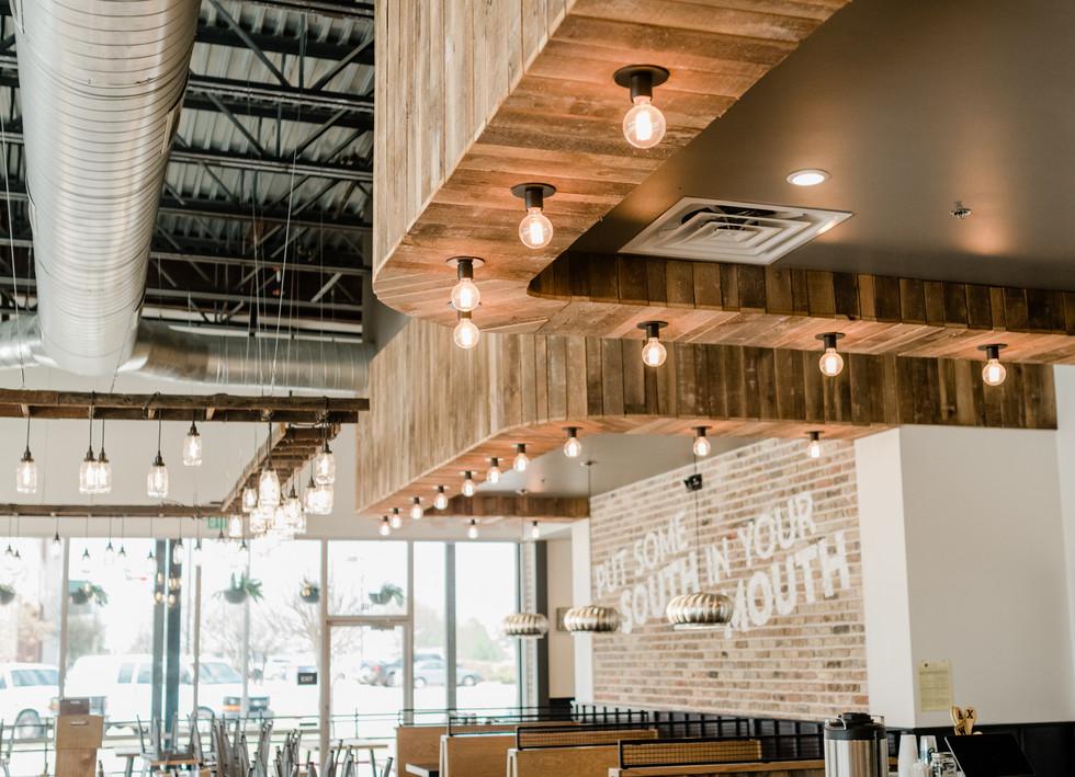 Texas Post Oak Hardwood Wall Cladding Stella Southern Cafe