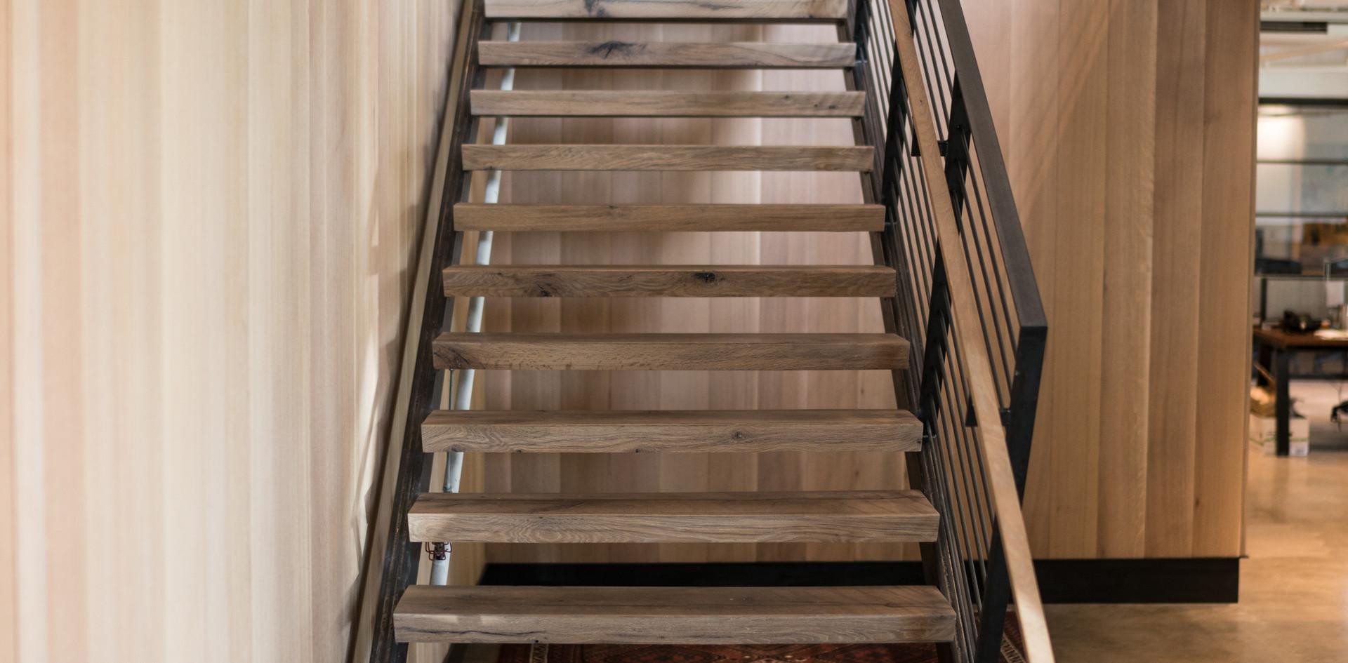 Texas Post Oak Hardwood Flooring Stairs
