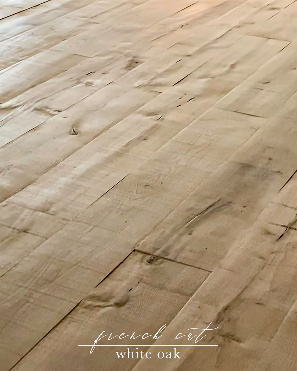 Natural Face is Hardwood Design Company's proprietary aged process which creates an old world style hardwood floor rich in texture and movement.