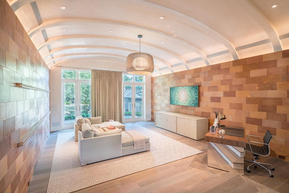 premium hardwood wall cladding in modern living space