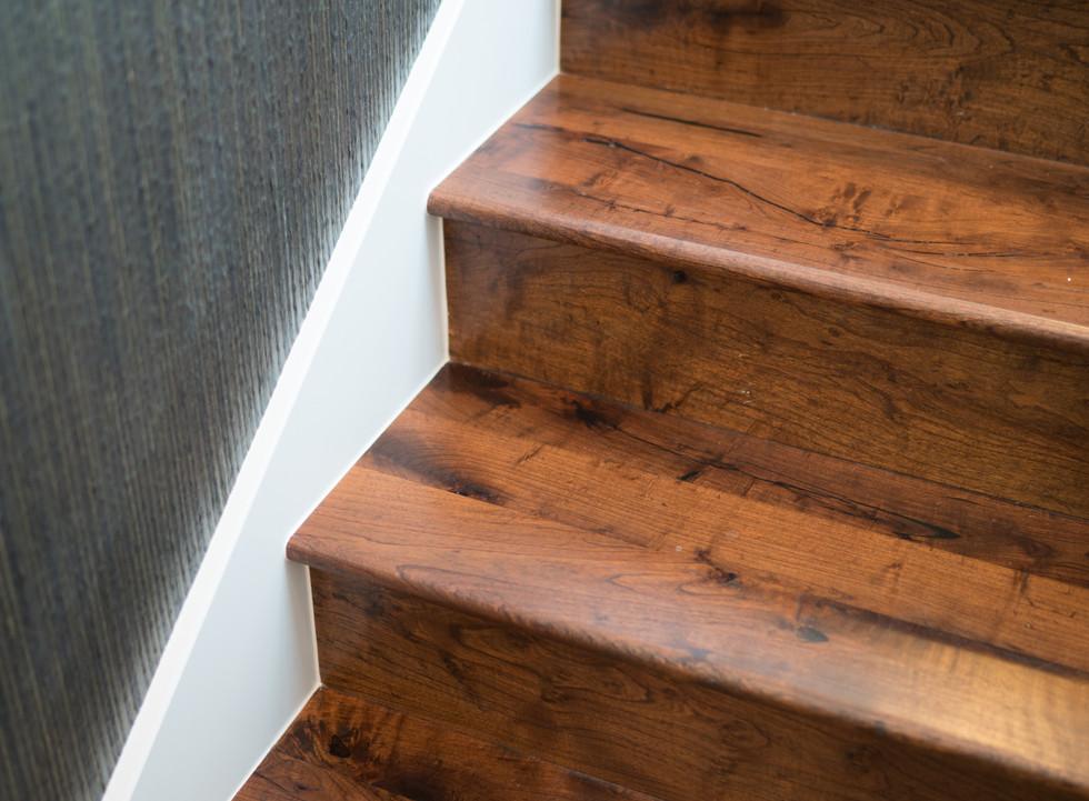 Texas Mesquite Hardwood Flooring Stairs