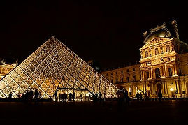 The Louvre Pyramid.