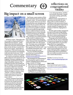A piece about the importance of social media for churches.
