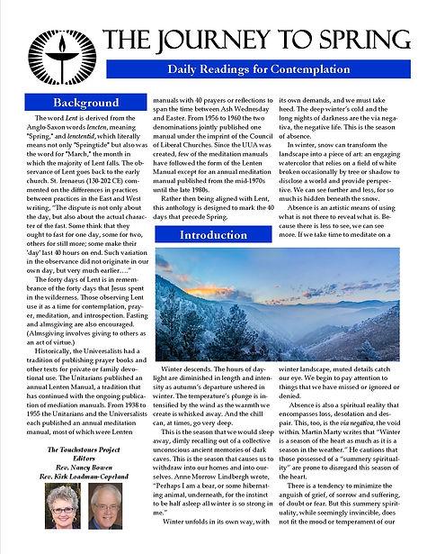 Journey to Spring Meditation Journal.