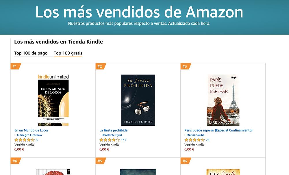 Los libros más vendidos de amazon