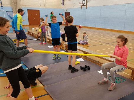 Circuit training with new Decathlon kit