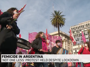 """""""Not One Less"""" protest held despite lockdown in Argentina"""