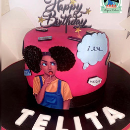 Empower Her Afro Diva Cake