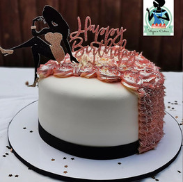Silhouette Lady Dress Cake