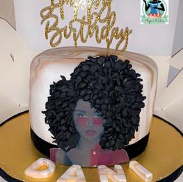 Afro Diva Cake