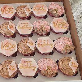 Pink Meets Latte Cupcakes