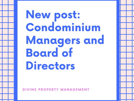 Condominium Management and Board of Directors: This Is What We Can Do For You