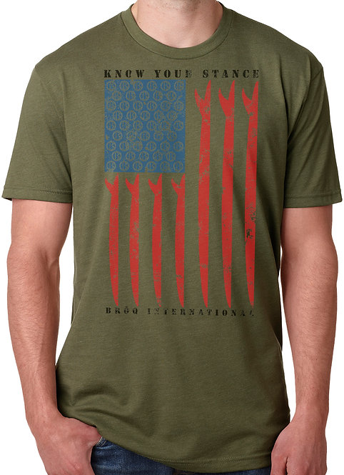 Know Your Stance US Flag- Unisex T