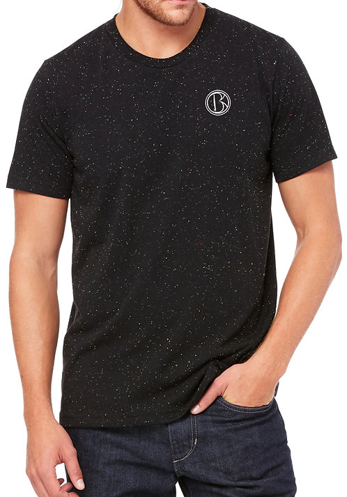 Speckled Mens/Unisex Embroidered T