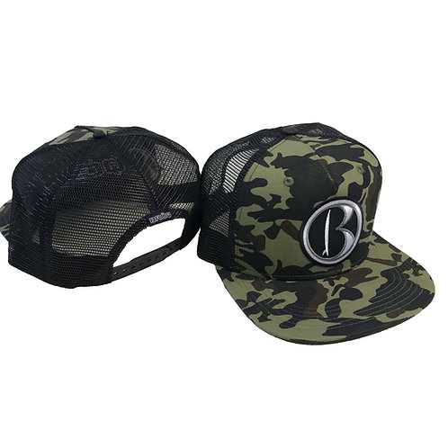 B icon- CAMO SurfTrucker Snapback Hat BX025