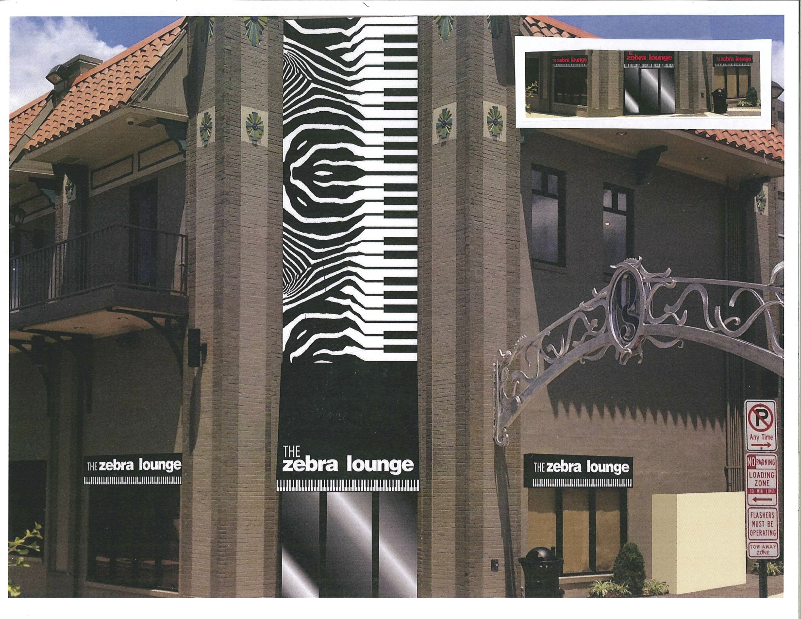 Zebra lounge piano bar in Memphis
