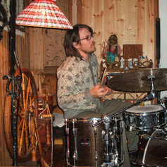 Martin - band rehearsal in the mountain cabin