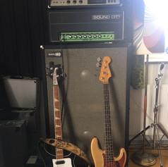 Bass rig - rehearsal room
