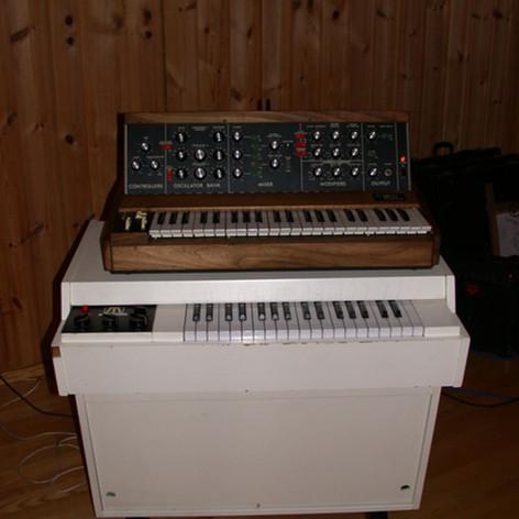 Mellotron M400 and MiniMoog
