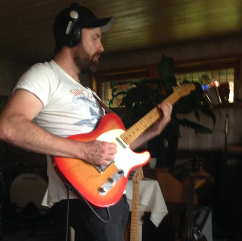 From Silence To Somewhere recording session - Andreas