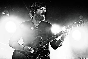 Marius Halleland on stage Gibson ES 335