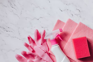 cleaning-disinfection-products-pink-colo