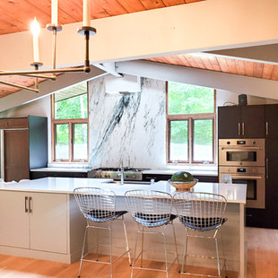 Montclair Danby Honed (Marble) and Blanco Pure Extra Polished (Quartz)