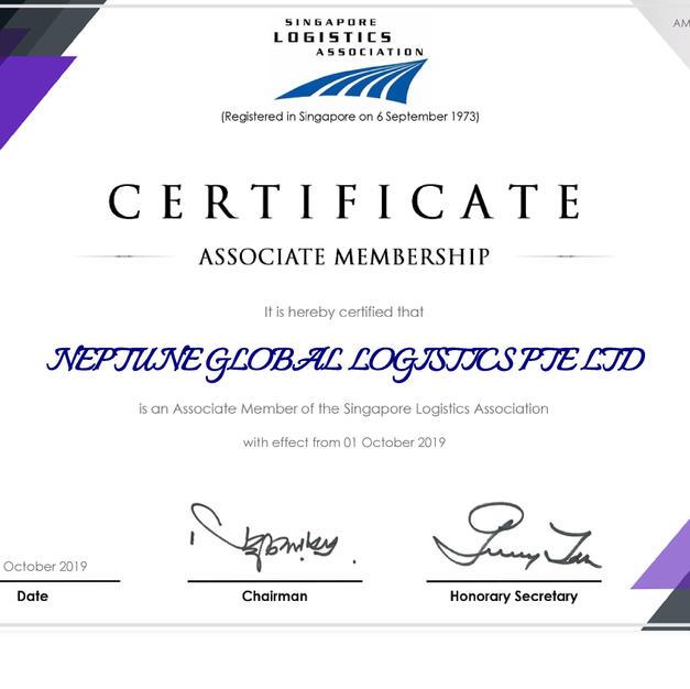 SLA Registration Certificate