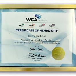 WCA - CERTIFICATE OF MEMBERSHIP