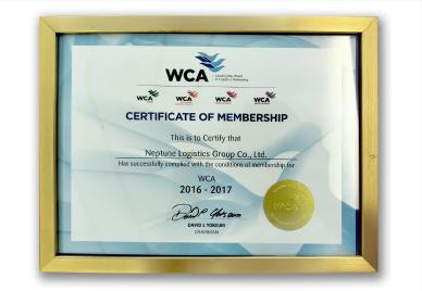 WCA CERTIFICATE OF MEMBERSHIP