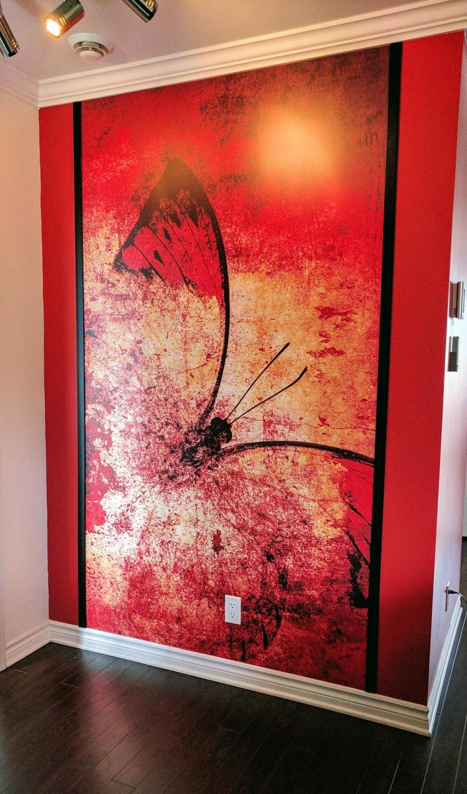 murale papillon