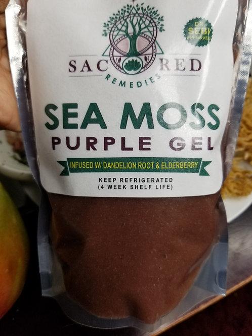 Purple Sea Moss Gel w/ Dandelion Root & Elderberry