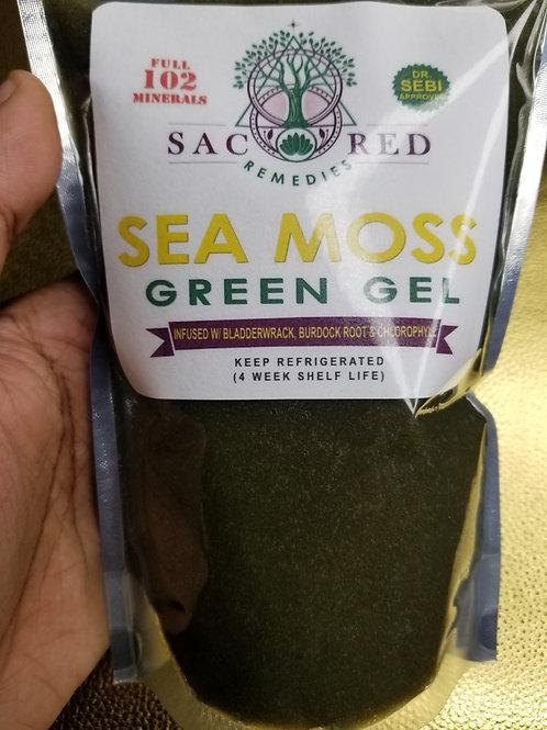 SUPER Green Sea Moss Gel w/ Chlorophyll, Bladderwrack, Burdock Root & Elderberry