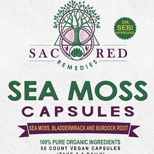Sea Moss, Bladderwrack & Burdock Root Capsules