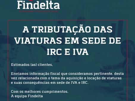 A Tributação das viaturas em sede de IRC e IVA