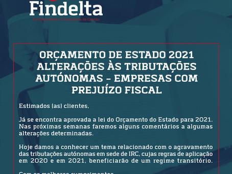 Alterações às tributações autónomas – empresas com prejuízo fiscal