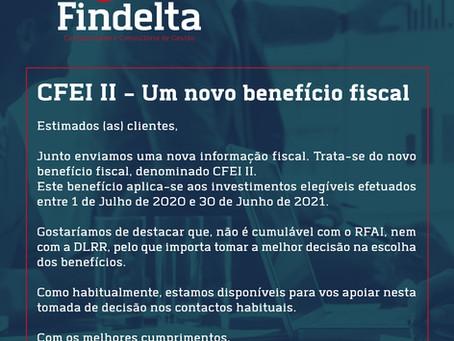 CFEI II - Um novo benefício fiscal