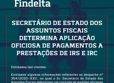 Prestações de IRC e IRS