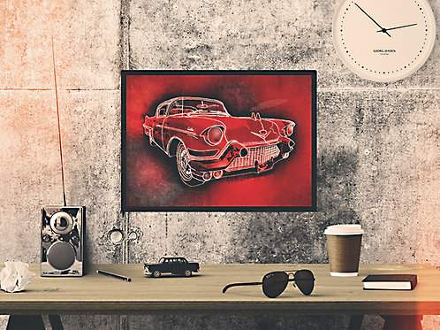Red Cadillac Art Print